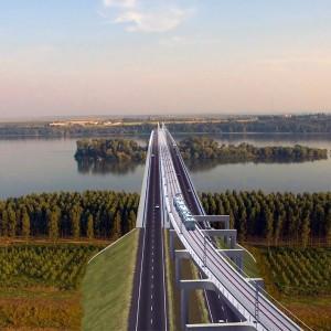 Most DANUBE Bridge Vidin Bulharsko