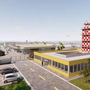 Vizualizace nové podoby letiště v Saint-Luis